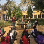 Government Senior Secondary School, Mandola, Rewari, Haryana. Maneesh Singh, TagorePrize Project Manager, Mr. Sunil, Principal, Kusum Lata, Librarian and Priya, Student Literary Club President- February 12th, 2019.