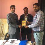 IS.D Senior Secondary School, Kakrala, Haryana. Mr. Yudhveer Singh, Principal, Mr. Pawan Yadav, Librarian with Mr. Mohit Kumar, TagorePrize Volunteer – February 18th, 2019.