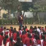 Manieesh Singh, TagorePrize Project Manager, Government Girl Senior Secondary School, Kanina, Mahendragarh. Ms. Vinita Rao – Principa, Ms. Sangeeta – Librarian, Pooja- Literary club – February 14th, 2019.
