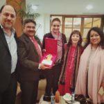 Mr. Peter Bundalo, TagorePrize Founder, Ambassador Anil Trigunayat Retd., Ms. Simona Ivanda, TagorePrize Board of Directors, Ms. Zuleikha, Story Dancer, USA, Ms. Lakshmi, Unity Earth/U Day India, Director – February 6th, 2019.