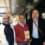 Mr. Prem Das, TagorePrize PR Director, Mr. Bidhan Chandra, Executive Director Kailash Satyarthi Children's Foundation and Mr. Peter Bundalo, TagorePrize Founder – February 6th, 2019.