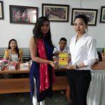 Don Bosco Institute of Management, Guwahati, Assam. Ms. Arundhati Bhattacharya, TagorePrize Volunteer & Ms. Gayatri, Librarian – March 30th, 2019.