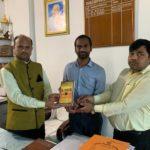 Doon Public School, Begusarai, Bihar. Mr. G.K Singh, Principal, Mr. Rakesh Kumar, TagorePrize Project Manager and Mr. Amit Tiwari, Librarian – February 23rd,2019.