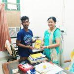 Martin Soren, TagorePrize Volunteer with Dr, Pushpa Lata Negi, Librarian at Regional Institute of Education (NCERT), Bhubaneswar Odisha – March 26th, 2019.