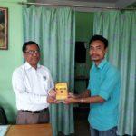 Mr. Hemari Tokbi, Deputy Director, Diphu Cultural Centre, Cultural Affairs Department, Karbi Anglong Autonomous Council, Diphu, Assam, with Mr. Longbir Terang, TagorePrize Volunteer – March 23rd, 2019.