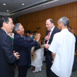 Ambassador of Taiwan to India, Chung-Kwang Tien arriving to TagorePrize 2019. with Taiwanese delegation, greeted by Peter Bundalo, Founder of TagorePrize
