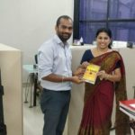 Institute of Management and Research SPJIMR (Bhartiya Vidya Bhavan), Mumbai. Dr. Veena, Librarian and Rakesh Kumar, TagorePrize Project Manager – April 10th, 2019.
