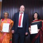 Kala Ramesh, a poetess, Peter Bundalo, TagorePrize Founder, Menka Shivdasani, a poetess