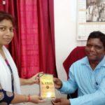 Vishwa Bharti University, Shanti Niketan University, West Bengal. Dr. N. C. Shaha, Librarian and Ms. Meghna Patra, TagorePrize Volunteer – April 2nd, 2019.