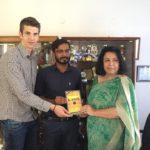 Delhi Public School, Rewari, Haryana. Petar Nevistic, TagorePrize Board Member, Maneesh Singh, TagorePrize Project Manager and Ms. Sunita, Principal – April 22nd, 2019.