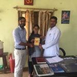 Government Senior Secondary School, Bahar, Rewari, Haryana. Rajesh Verma Principal, Divya, Literary club president and Maneesh Singh, TagorePrize Project Manager. – May 4th, 2019.