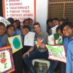 TagorePrize's Board Member Petar Nevistic warmly welcomed by children at Government Model Senior Secondary School Bhojawas – April 22nd, 2019.