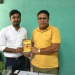 Government Model Senior Secondary School Kund, Haryana. (R) Suresh Kumar Yadav, Principal with TagorePrize Project Manager Maneesh Singh – October 15th, 2019.