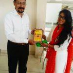 Priyanka Kumari, TagorePrize volunteer at St. Xavier's College, Ranchi, Jharkhand with Sanjay Ghosh, Head of Department – September 17th, 2019.