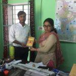 TagorePrize Project Manager Maneesh Singh at SVN Vidyaniketan, Rajasthan with Sunita Rani, Principal – September 24th, 2019.